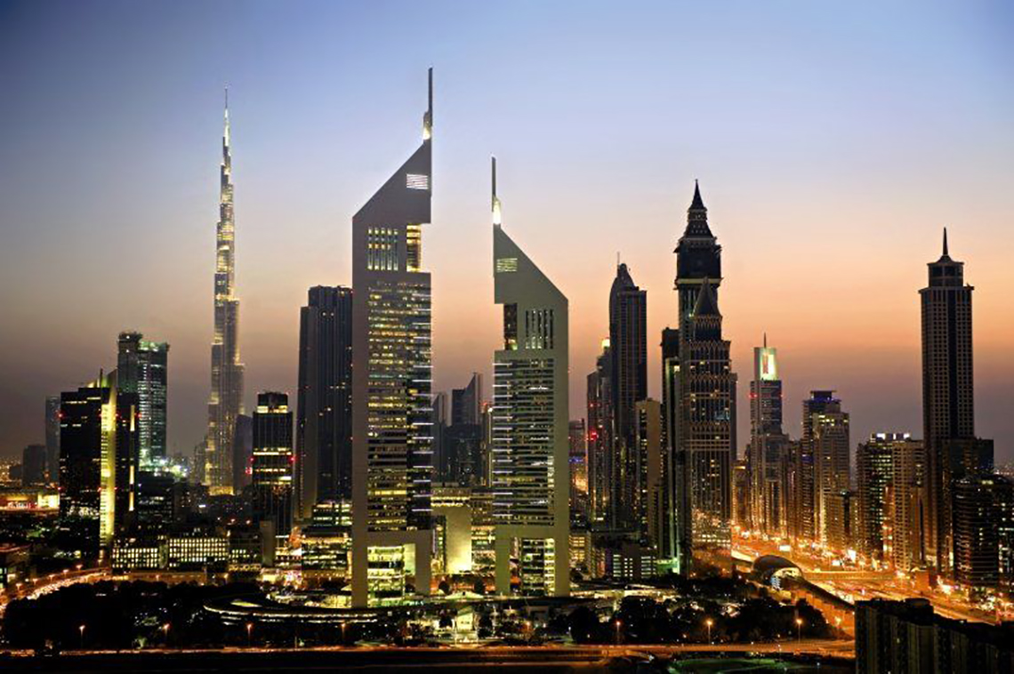 Dubai Sheikh Zayed Road Jumeirah Emirates Towers